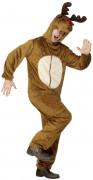 Rentier-Kostüm Weihnachten für Herren beige-braun-rot