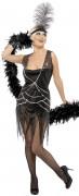 Schwarzes Charleston-Kostüm für Damen
