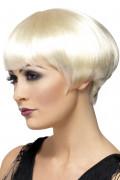 Blonde kurze Charleston-Perücke für Damen
