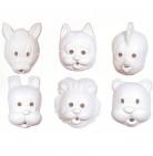 Tiermaske zum Anmalen für Kinder