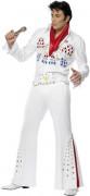 Weißes Elvis Presley™-Kostüm Deluxe für Herren