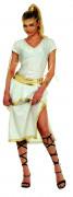Griechische Göttin Antike Damenkostüm weiss-goldfarben