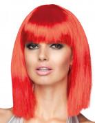 Rote Perücke für Damen