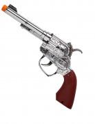 Cowboy-Pistole mit Schußknall Spielzeug silber-braun