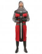 Mittelalterliches Ritter-Kostüm für Herren schwarz-rot-grau