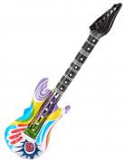 Aufblasbare Rock-Gitarre bunt.