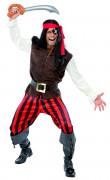 Piratenkostüm für Herren mit Augenklappe bunt