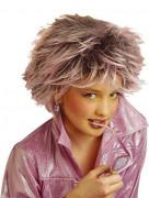 Perücke mit rosa Strähnen für Mädchen