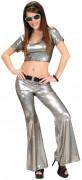 Silber Disco-Top für Damen