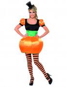 Kürbis-Kostüm Halloween für Damen