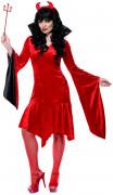Teufels-Kostüm Halloween für Damen