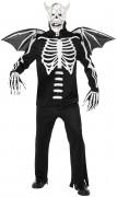 Skelettartiger Dämon-Kostüm Halloween für Erwachsene
