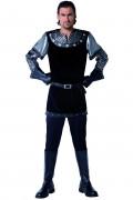 Mittelalterliches Schwarzer-Ritter-Kostüm für Herren