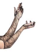 Lange Halloween-Spinnenhandschuhe für Erwachsene