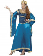 mittelalterliches Königinnen Luxuskostüm für Damen