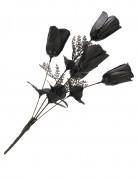 Strauß schwarzer Rosen für Halloween
