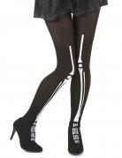 Halloween-Skelettstrumpfhose für Erwachsene