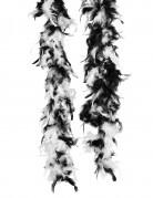 Federboa schwarz mit weißen Federspitzen