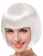 Damenkurzhaarperücke weiß