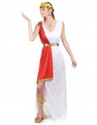 Römer-Göttin-Kostüm für Damen weiss-rot-goldfarben