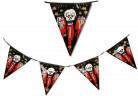Halloween-Wimpelgirlande blutige Schädel