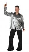 Silbernes Disco-Hemd für Erwachsene