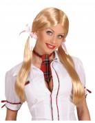 Blonde Schulmädchen Perücke für Damen