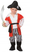 Seeräuber-Kostüm für Jungen schwarz-weiss-rot