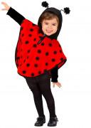 Poncho Marienkäfer Kostüm für Mädchen