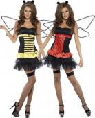 Marienkäfer oder Bienenkostüm (reversibel) für Damen