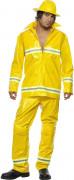Feuerwehrmann-Kostüm für Herren Uniform gelb