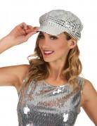 Disko-Mütze silber