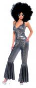 Kostüm Disko silber für Damen