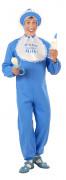 Blaues Baby-Kostüm für Herren Overall 3-teilig