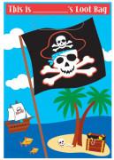 Geschenktüte mit Piratenmotiv 8 Stück Kindergeburtstag bunt