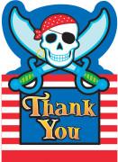 Dankeschön-Karte Piraten