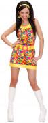 Damen-Hippie-Kostüm 60er Jahre für Damen bunt