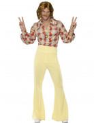 Herren-Hippie-Kostüm orangefarben-gelb-grau