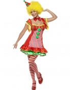 Happy Clown-Kostüm für Damen