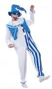 Clown-Kostüm Weiß-Blau für Erwachsene