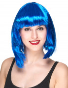 Blaue kurze Perücke für Damen