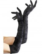 Lange schwarze Halloweenhandschuhe