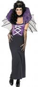 Beflügelndes Vampir-Kostüm für Damen schwarz-lila