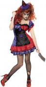 gruseliges Clowns-Kostüm Halloween für Damen