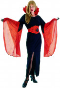 Halloween Vampir-Kostüm für Damen schwarz-rot