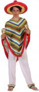 Mexikaner-Kostüm für Herren Poncho bunt