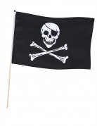 Jolly Roger Piraten-Fahne schwarz-weiss 45x30cm