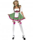Sexy bayrisches Dirndl-Kostüm für Damen grün pink