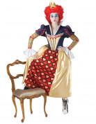 Märchenhafte Herzkönigin Kostüm für Damen bunt