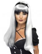 weiß-schwarze Perücke für Damen